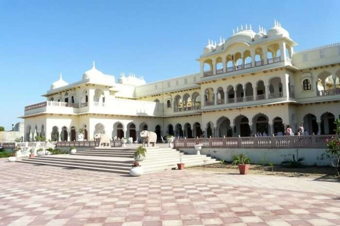 The majestic view of Bharatpur Palace